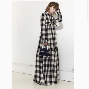 Mara Hoffman Plaid Maxi Dress Faye Oversized 4